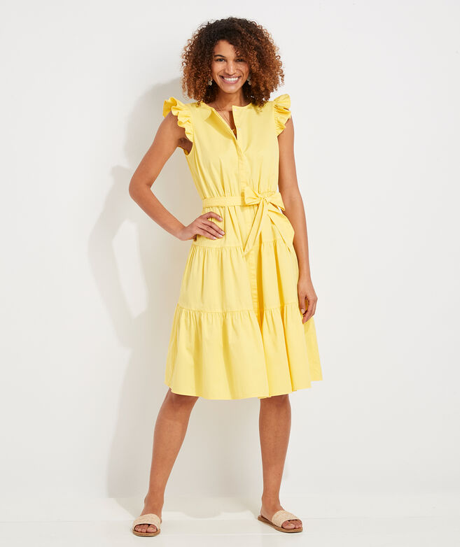 Ruffle Sleeve Midi Sundress