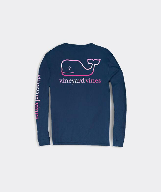 Sunset Vintage Whale Long-Sleeve Pocket Tee