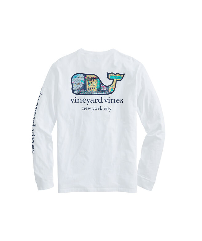 Adult NYC Times Square New Year's Eve Long-Sleeve Pocket Tee