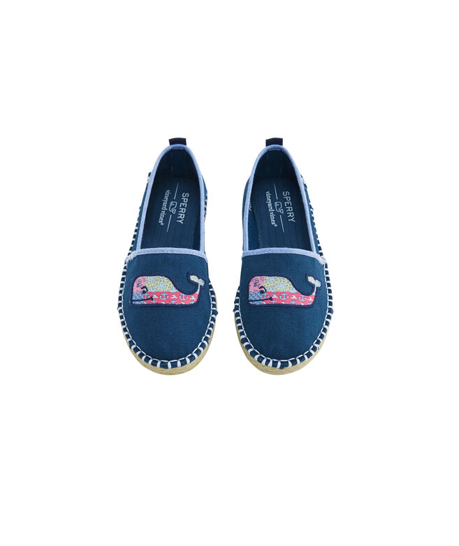 Big Kid's Sperry x vineyard vines Skysail Canvas Espadrille