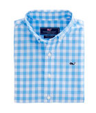 Boys Riverhead Gingham Whale Shirt