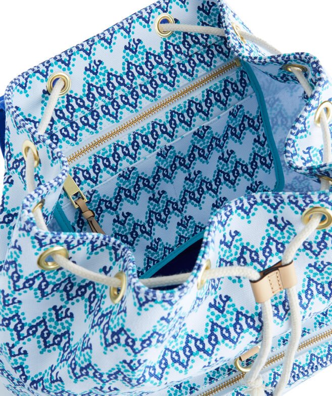 Bubbles Print Canvas Day Pack