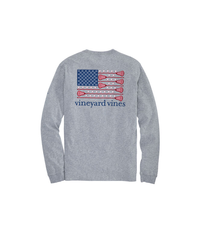 Lacrosse Flag Long-Sleeve Pocket Tee