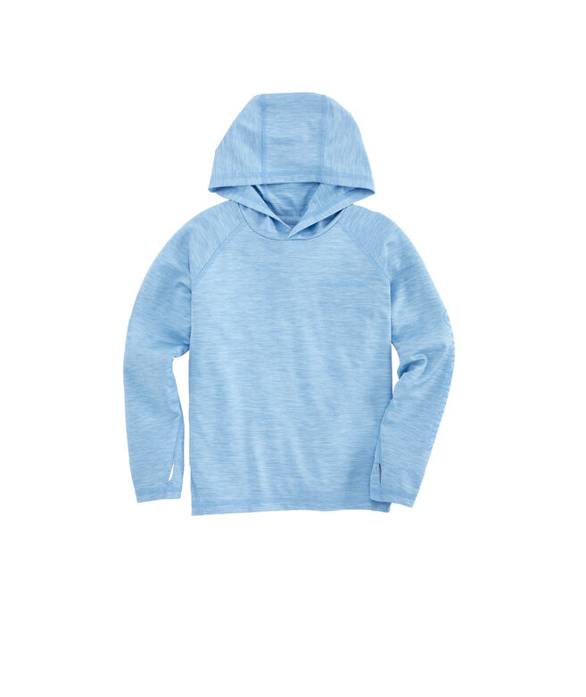 Boys Spacedye Fishing Long-Sleeve Performance Hoodie T-Shirt