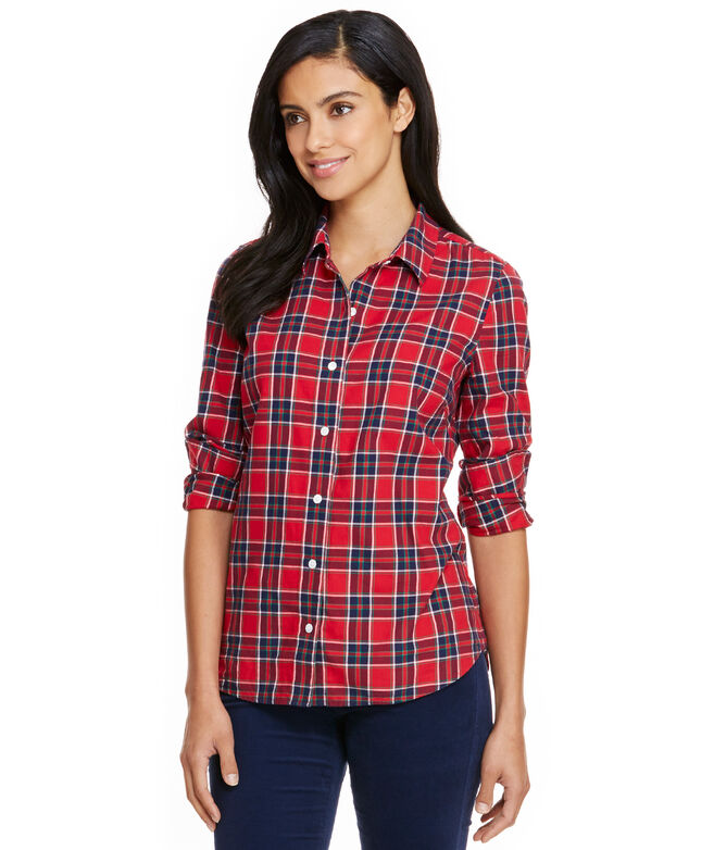 Party Plaid Flannel Button Down