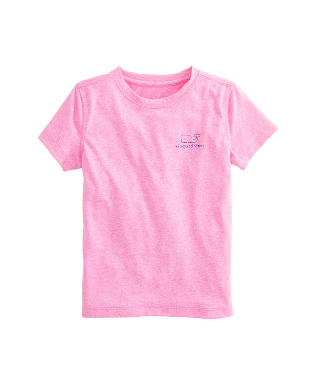 Girls Short-Sleeve Heather Whale Performance Tee