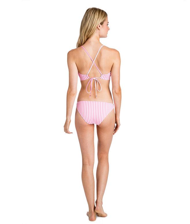 Keel Stripe Cross Bikini Top