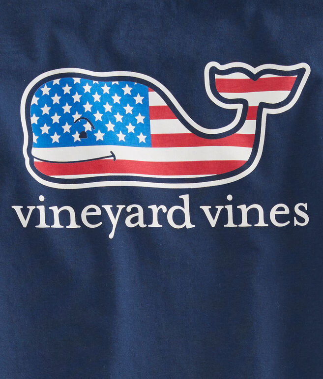 Boys Summer 2018 Flag Whale Pocket T-Shirt