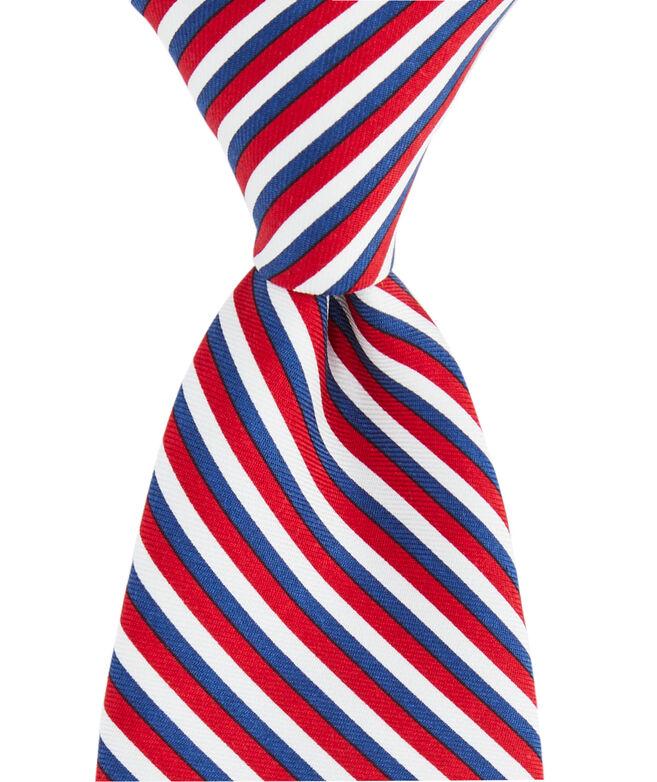 Boys Three Color Stripe Printed Tie
