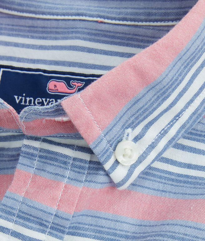 Boys Short-Sleeve Stripe Whale Shirt