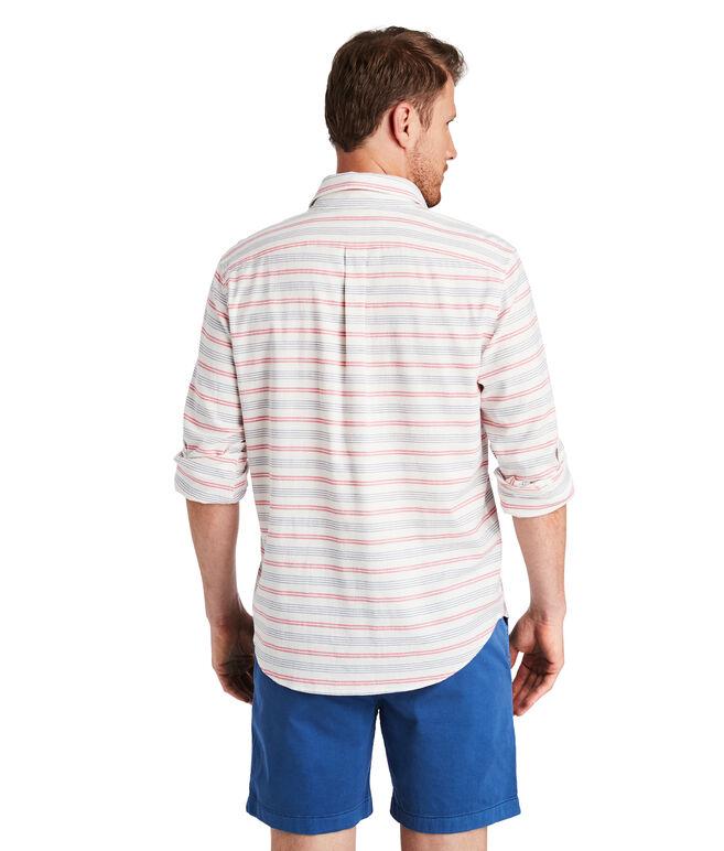 Cain Stripe Slim Longshore Shirt