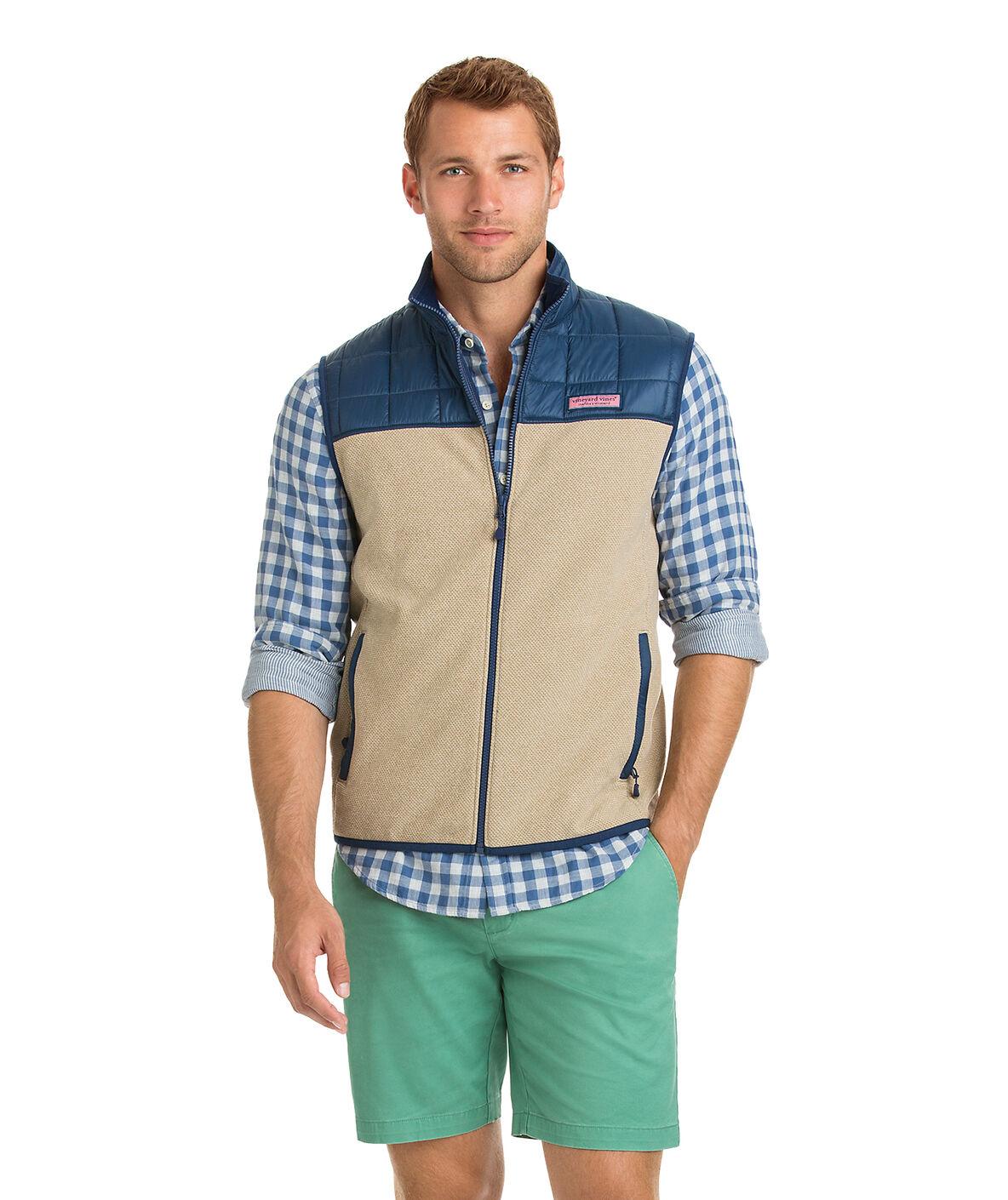 Shop Jacquard Fleece Vest at vineyard vines