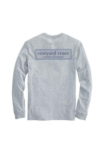 eab7f35a Long-Sleeve Vineyard Logo Box T-Shirt
