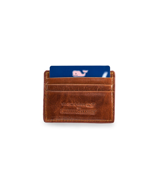 vineyard vines x Smathers & Branson Palm Tree Needlepoint Card Case