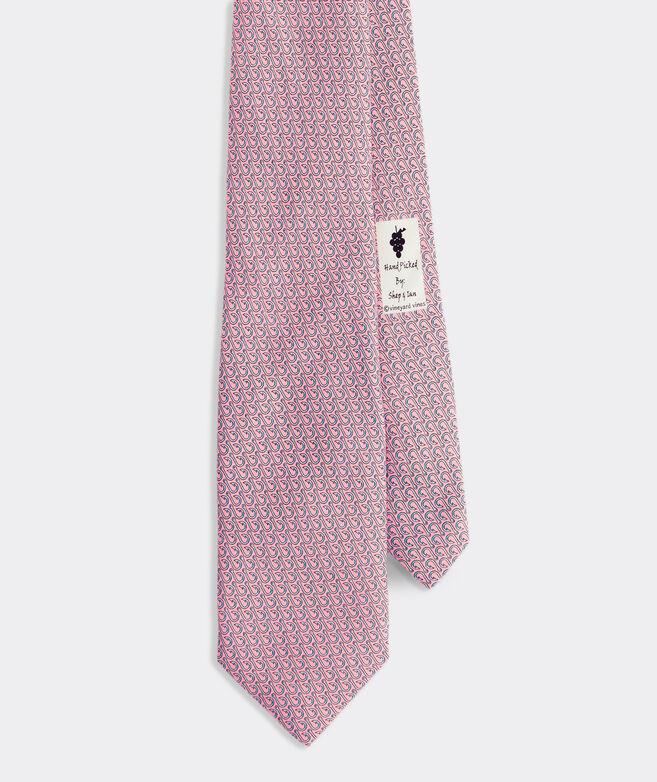 Fish Hooks Printed Tie