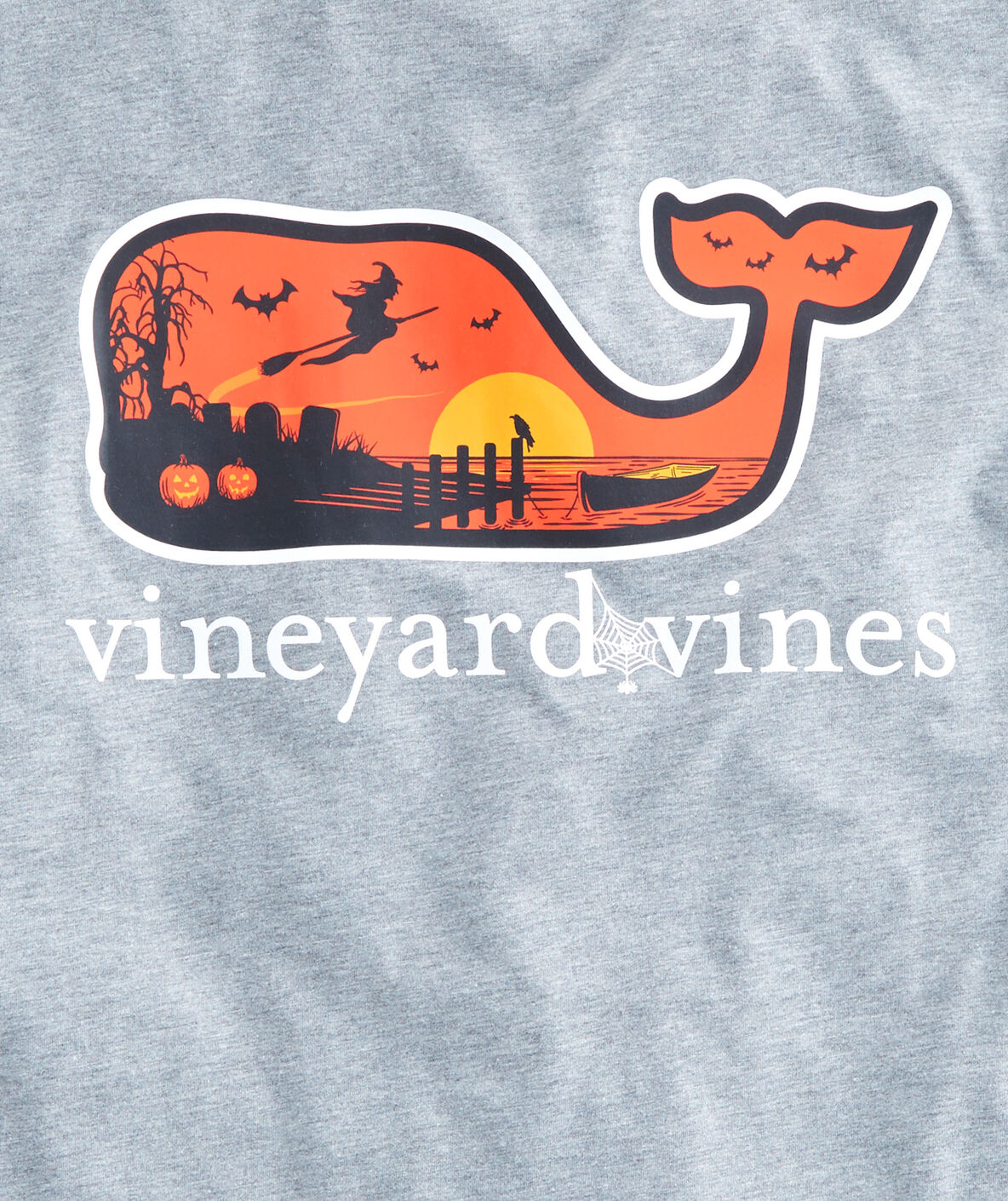 Shop Halloween Scene Whale Fill Pocket T Shirt At Vineyard