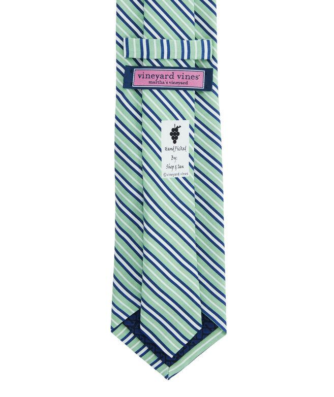 Thin Triple Stripe Printed Tie