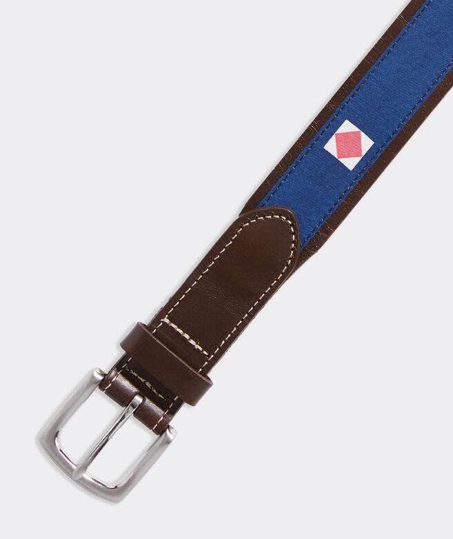 EDSFTG Signal Flags Leather Club Belt