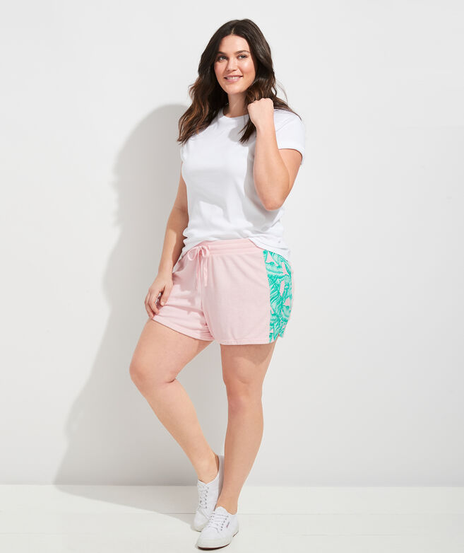 Banana Leaf Panel Terry Shorts