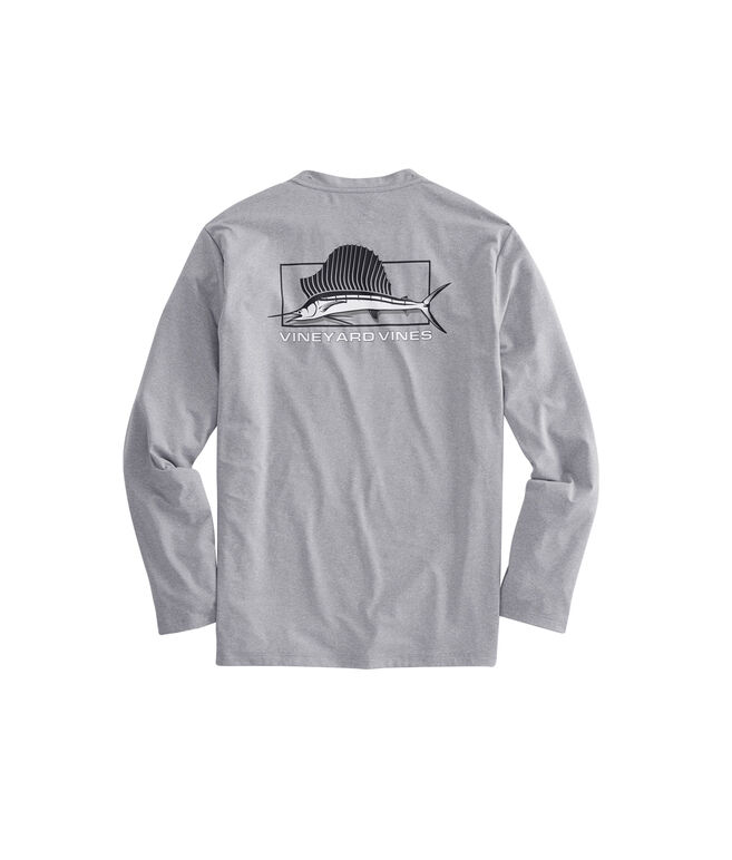 Long-Sleeve Heathered Performance Sailfish T-Shirt