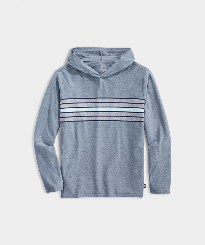 Surf Stripe Edgartown Long-Sleeve Hoodie Tee