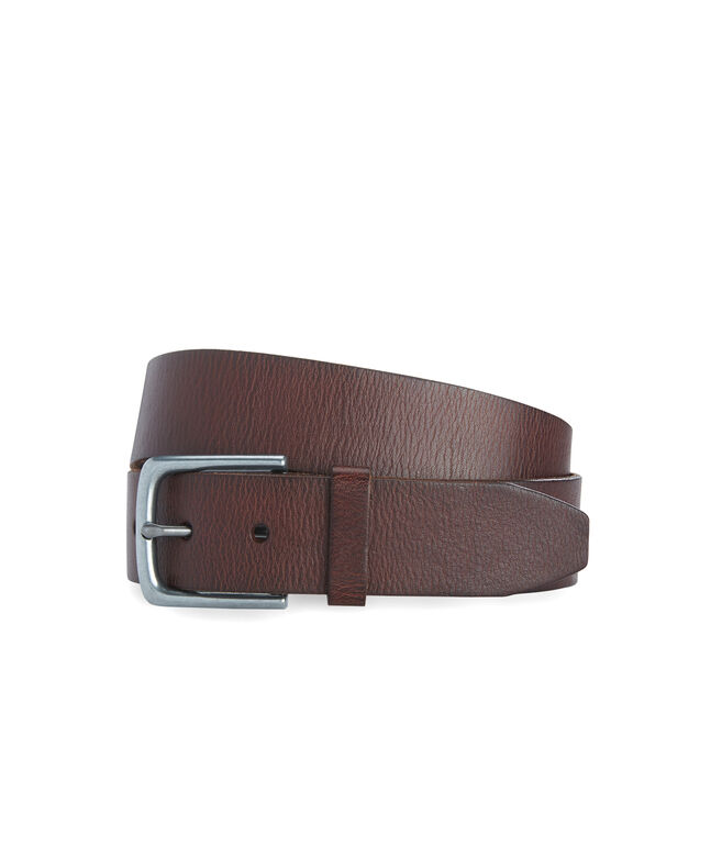 Solid Distressed Leather Belt