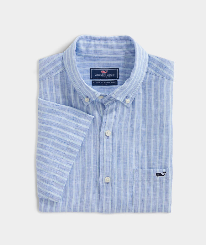Big & Tall Classic Fit Crown Haven Short-Sleeve Tucker Button-Down Shirt