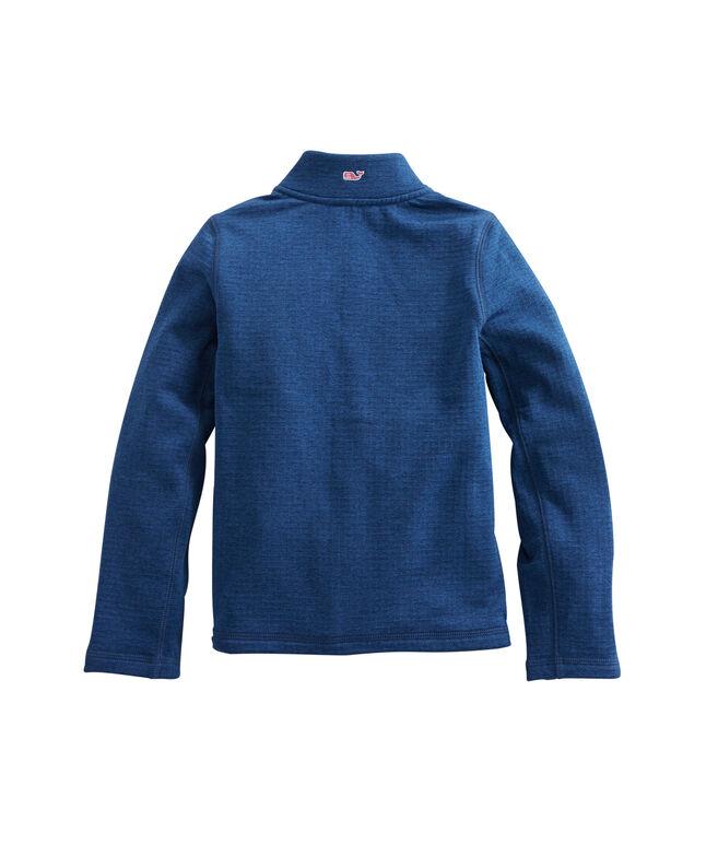 Girls Full Zip Grid Fleece