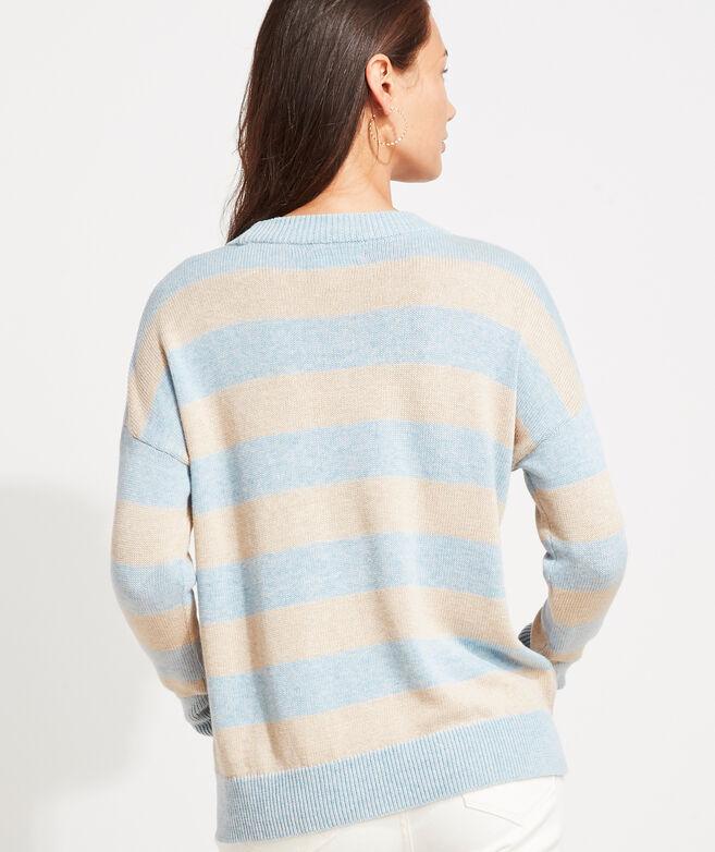Open-Knit Crewneck Sweater
