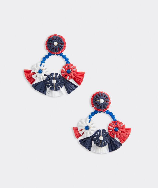 Raffia Beaded Firework Earrings
