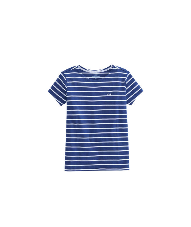 Girls Stripe Simple Tee