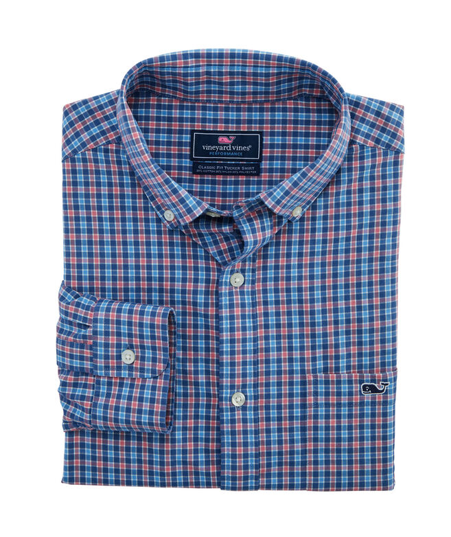Classic Fit Delancey Cotton Performance Tucker Shirt