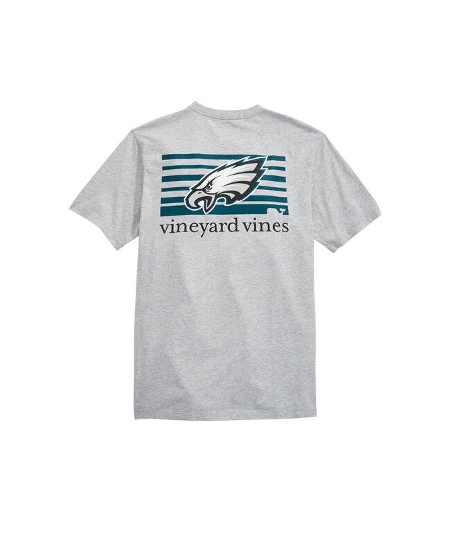 Philadelphia Eagles Block Stripe Tee