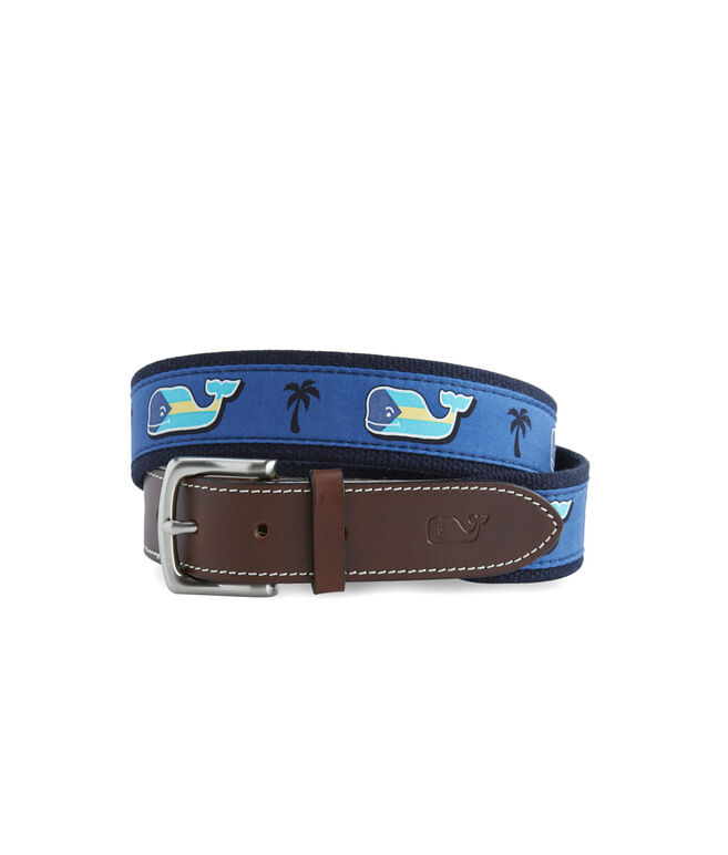 Bahamas Flag Whale Fill Canvas Club Belt
