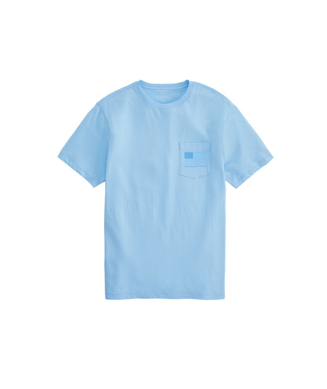 Tonal Flag Short-Sleeve Pocket T-Shirt