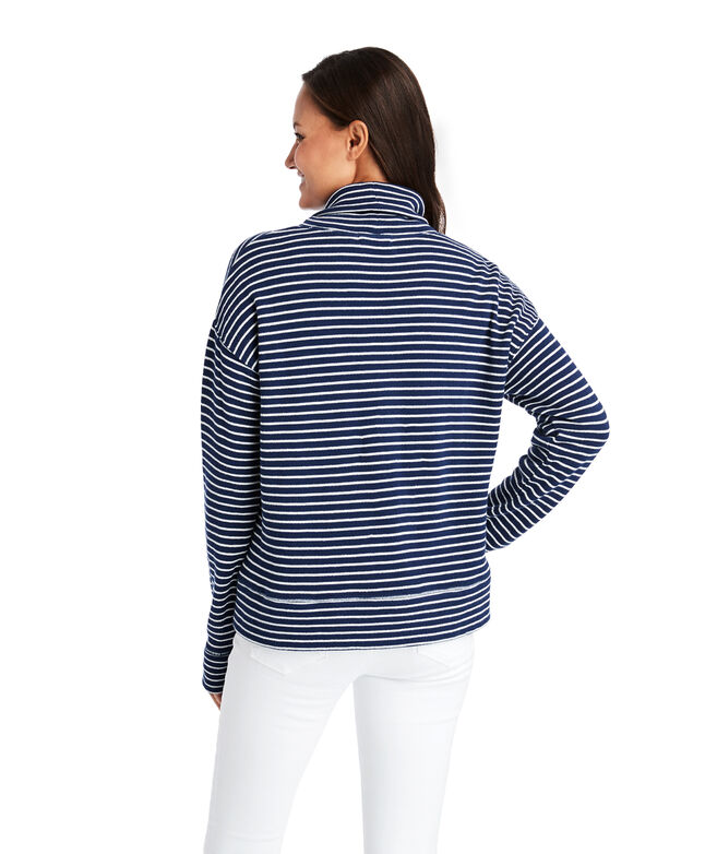 Funnel Neck Terry Pullover