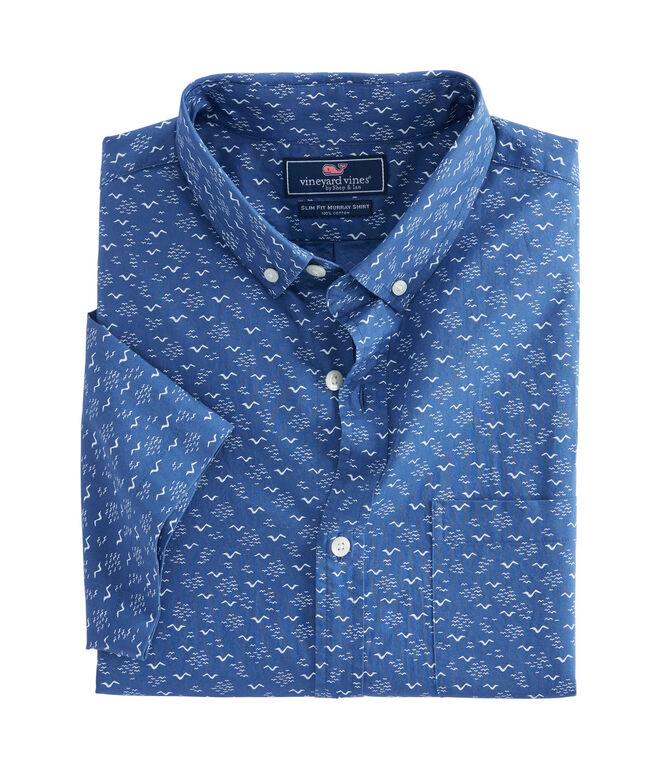 Short-Sleeve Mini Seagulls Slim Murray Shirt