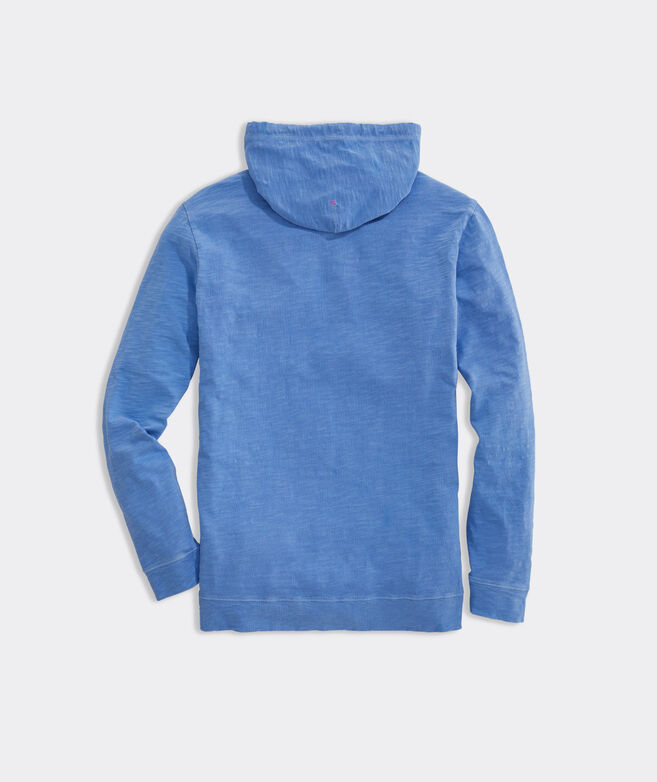 Garment Dyed Slub Island  Hoodie