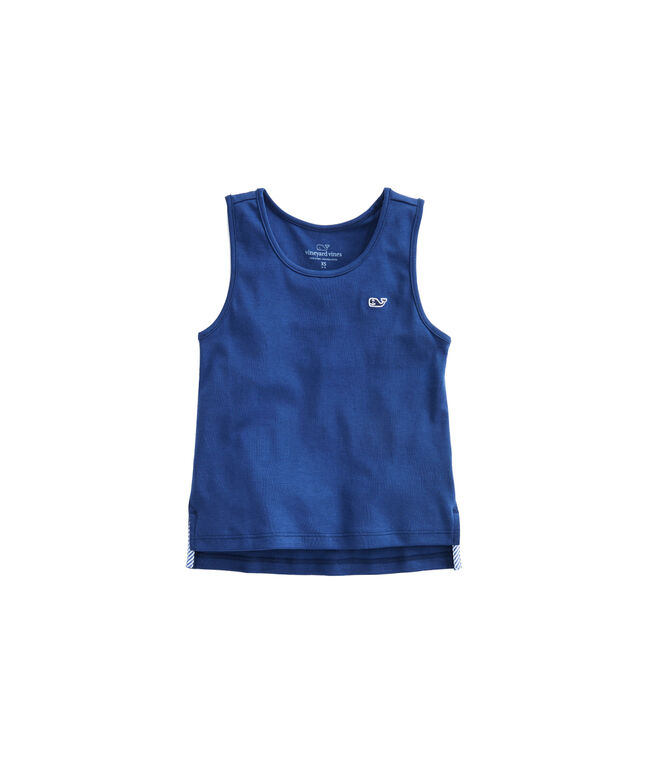 Girls Solid Knit Simple Tank
