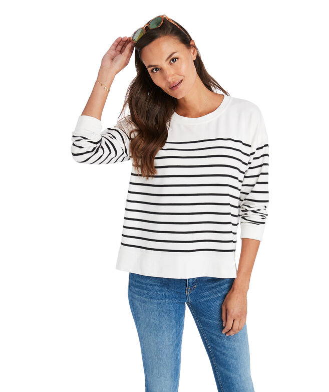 Striped Crewneck Sweatshirt
