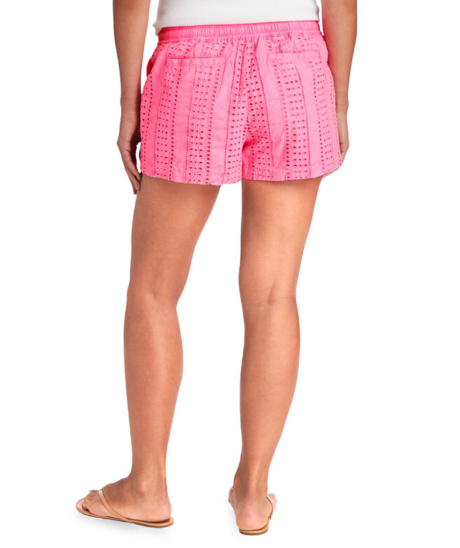 Sea Spray Eyelet Pull-On Shorts