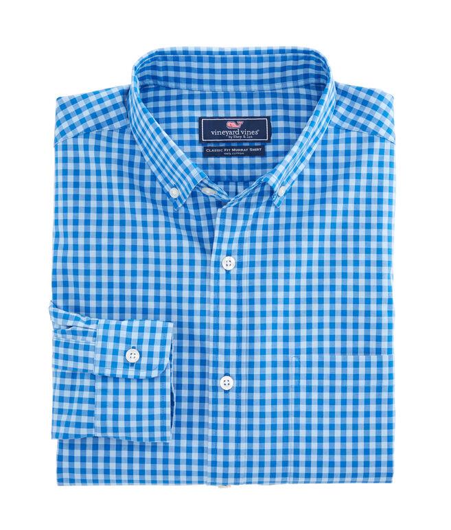 Folly Beach Gingham Classic Murray Shirt