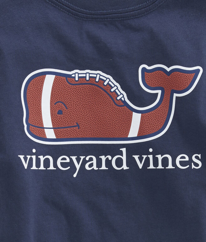 Boys Football Whale Pocket T-Shirt
