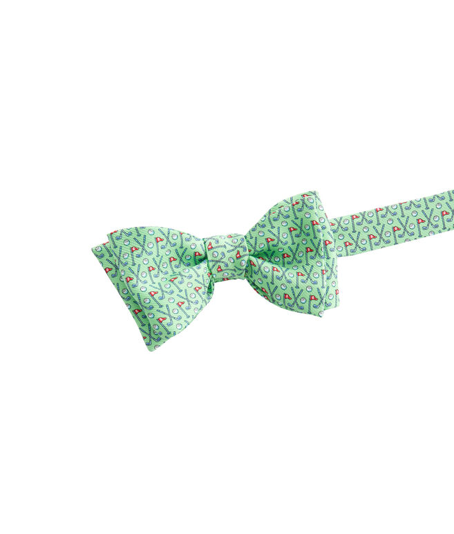 Crossed Clubs Bow Tie