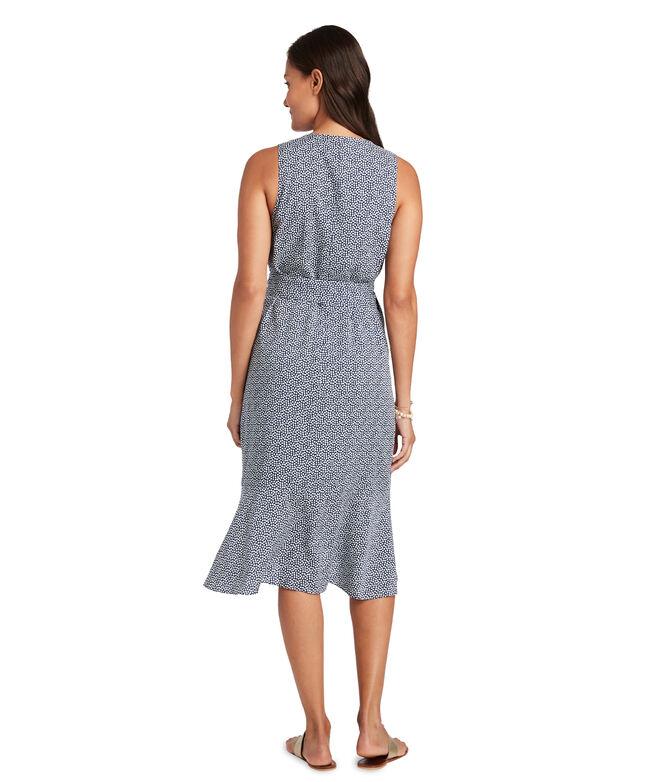 Scallop Dot Wrap Dress