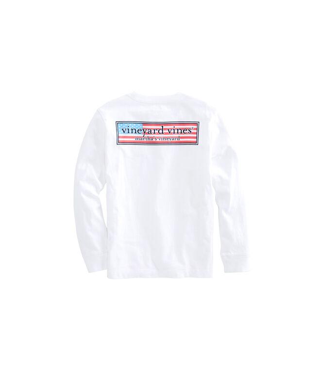 Boys Long-Sleeve Patriot Box Pocket T-Shirt