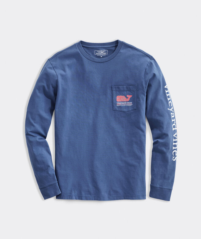 Kentucky Derby Bed Of Roses Long-Sleeve Pocket Tee