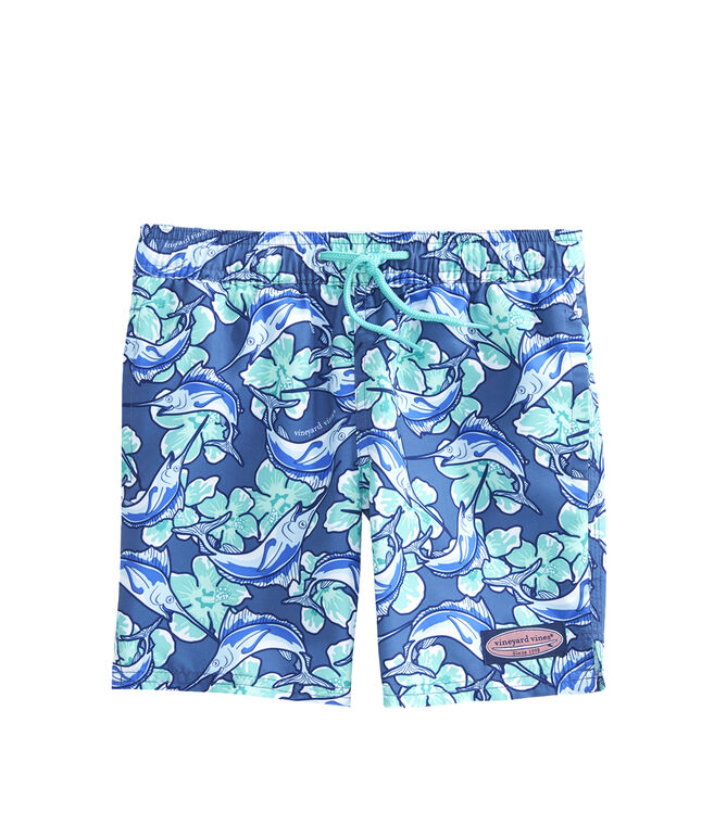 Boys Marlin Flower Chappy Trunks