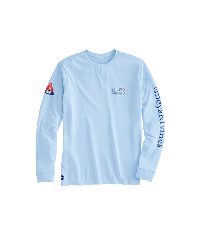 Long-Sleeve Performance Nautical Map 98 T-Shirt