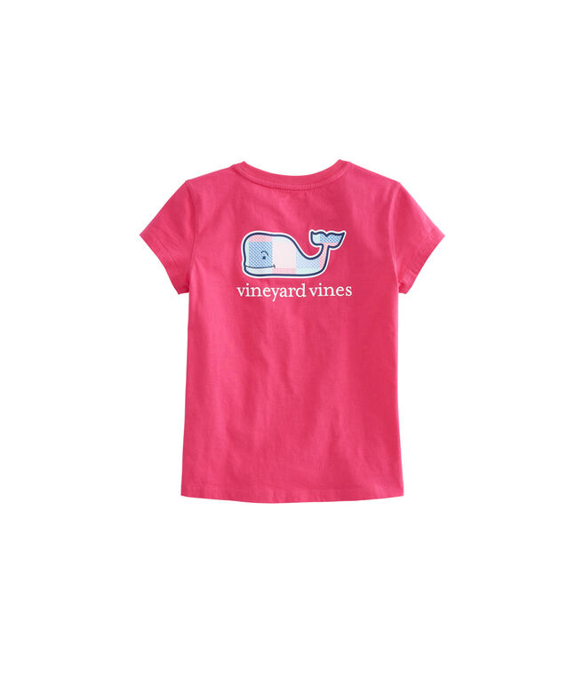 Girls Patchwork Whale Fill Tee